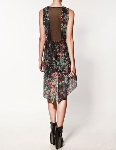 Vestido corto zara con estampado de flores car interior - Marcador de ropa mine el corte ingles ...