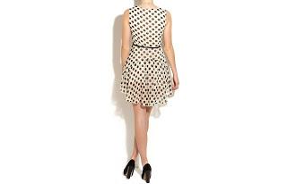 Vestidos cortos estilo años 60: estampados de lunares