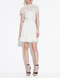 Vestidos cortos de Zara: encaje