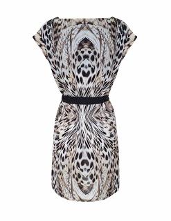 Vestido corto estampado de leopardo