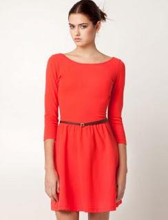 Vestido rojo con cinturon