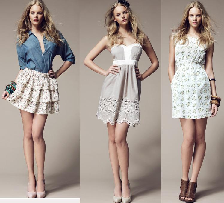 Tres looks con vestidos cortos