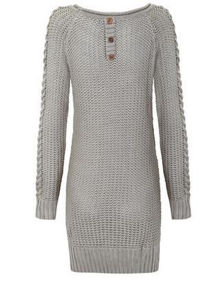 Vestido tricot botones espalda