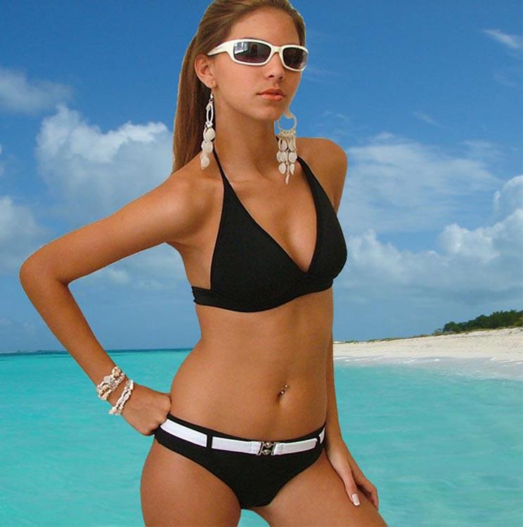 Chicas adolescentes en fotos de bikinis