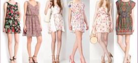 Vestidos cortos de estampados florales